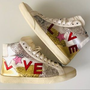 YSL Love Glitter High Tops SL/06M